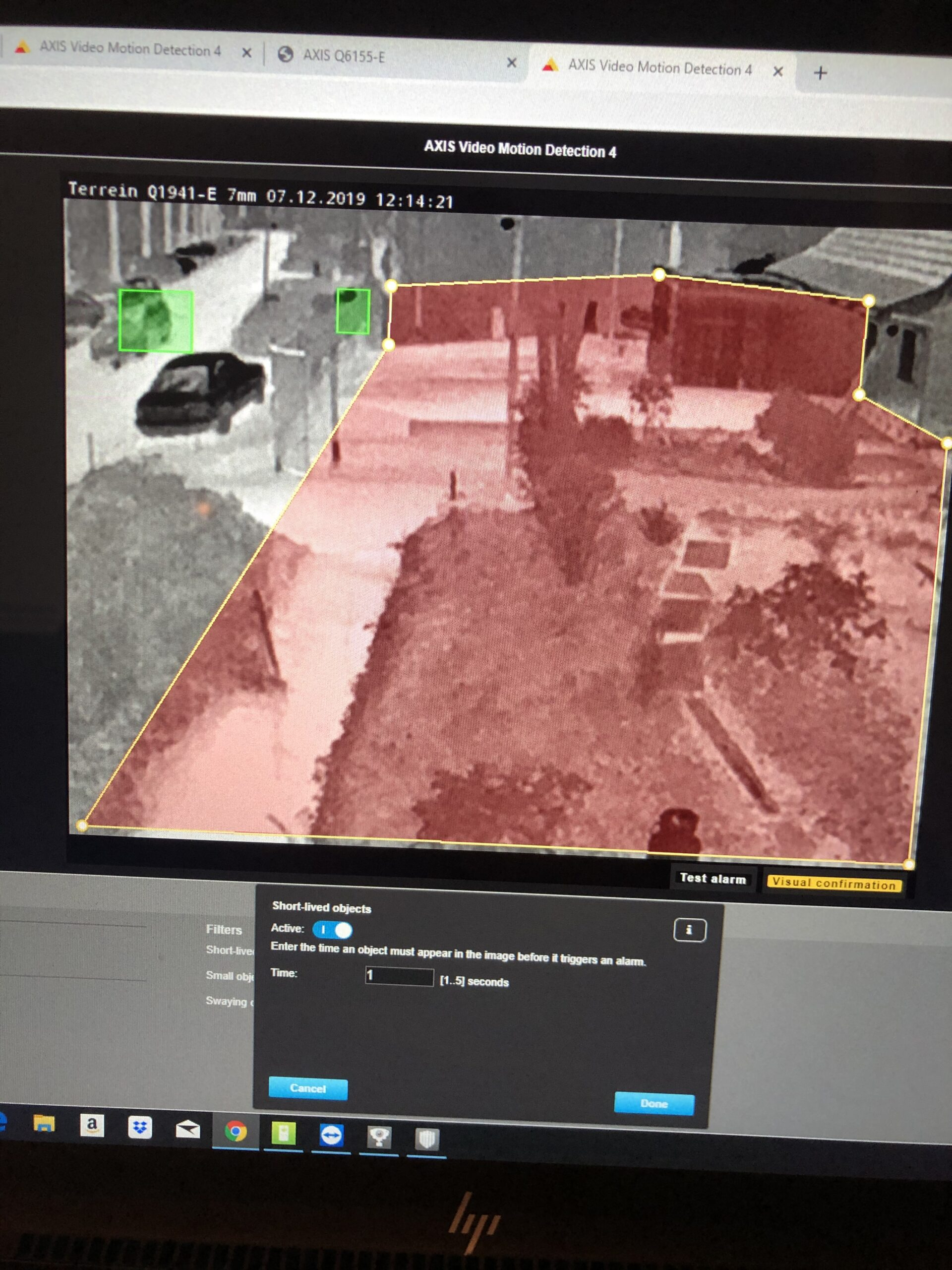Thermisch overzichtsbeeld/detectiegebied